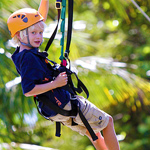 People young and old enjoy the Maui Zipline Company tour
