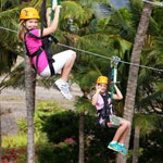 tandem zipping with best friends