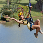 guide on the zip line adventure