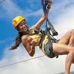 beautiful guide at the Maui Zipline Company