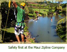Safety comes first at the Maui Zipline Company
